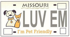 I'm Pet Friendly license plate